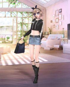 Fashion Hub, Girl Fashion, Virtual Girl, Nikki Love, Beautiful Fantasy Art, Anime Dress, Anime Outfits, Character Outfits, Anime Art Girl
