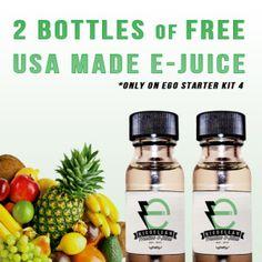 2 Bottles Free USA Made E Juice