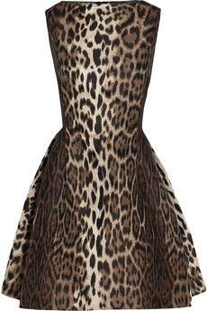Lanvin Leopard-jacquard mini dress | NET-A-PORTER