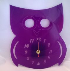 Olivia the owl - laser cut acrylic owl clock from Pinky Bear Designs facebook page    https://www.facebook.com/photo.php?fbid=462187010574596&set=a.462186827241281.1073741828.462159933910637&type=1&theater