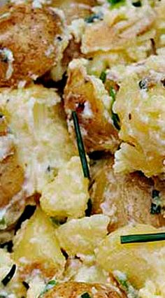 Perfect traditional Irish potato salad recipe Direct from Ireland - Traditional Irish Potato Salad ❊ Potato Dishes, Potato Recipes, Scottish Recipes, Irish Food Recipes, Welsh Recipes, Turkish Recipes, Irish Potatoes, Pub Food, Food Food
