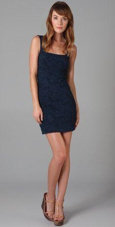 Lacy blue dress.