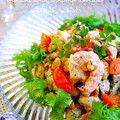 ブロッコリーと胡桃の海老アボカドサラダ by putimiko