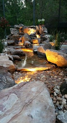 Waterfall created by Pondtastic Water Gardens in Orlando, FL. #WaterfallWednesday