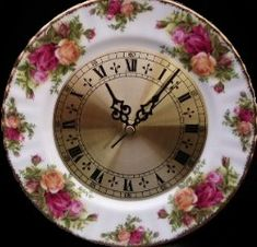 Royal Albert - Clock Plates - Old Country Roses-Collector Plates www.royalalbertpatterns.com
