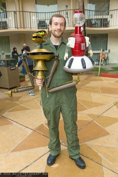 Joel Robinson, Crow T. Robot, and Tom Servo #cosplay | Anime Los Angeles 2015 - Sunday #DTJAAAAM