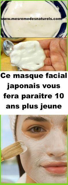 Ce masque facial japonais vous fera paraître 10 ans plus jeune Beauty Box, Beauty Secrets, Diy Beauty, Beauty Hacks, Masque Anti Ride, Body Challenge, Skin Treatments, Physique, Anti Aging