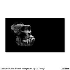 Gorilla skull on a black background. Double-Sided standard business cards (Pack of 100)