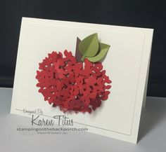 apple card made with the Thoughtful Branches stampin up bundle. Click through to see more cards
