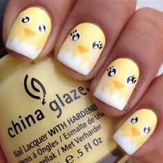 I am unfolding before you Easter chick nail art designs, ideas, trends & stickers of Make cute bunny faces with vibrant colors on your nails. Nail Art Designs, Easter Nail Designs, Easter Nail Art, Animal Nail Designs, Animal Nail Art, Cute Nail Art, Cute Nails, My Nails, Oval Nails