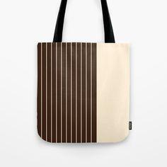Stripes Tote Bag by roxart Iphone Skins, Iphone Cases, Brown Beige, Apparel Design, Laptop Skin, Laptop Sleeves, Tote Bags, Original Artwork, Totes