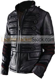 Military Men Biker Leather Jacket
