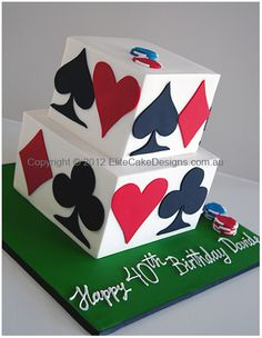 casiino playing cards cake