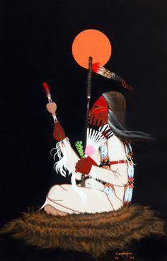 Native American Painting by Mirac Creepingbear kp Native American Church, Native American Quotes, Native American Symbols, American Indians, American Women, Native American Paintings, Native American Artists, Indian Artwork, Indian Paintings