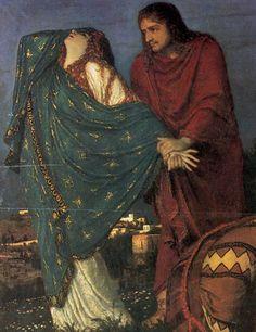 Arnold Böcklin, The Deposition, c. 1874, detail: Mary Magdalene and St. John