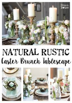Natural Rustic Easter Brunch Tablescape | http://blesserhouse.com /worldmarket/ #sponsored #WorldMarketTribe