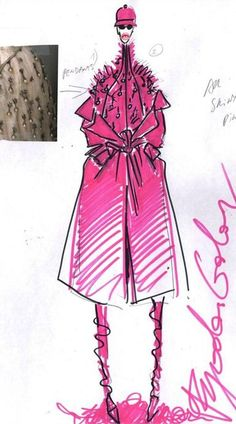 Sketch by Fyodor Golan for one of their #SwarovskiCollective looks