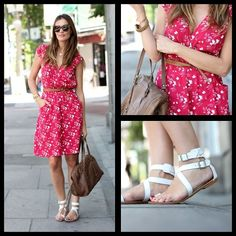 Red and white floral - Lady Addict