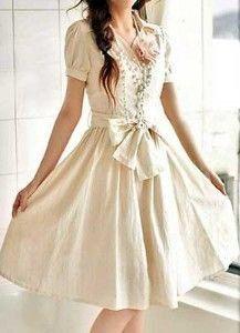 Vestidos linha-A brancos