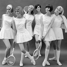 Mum wore the skirt/shirt combo: John French's tennis photographs - #vamSHOP #vamuseum #wimbledon #tennis #tennis🎾