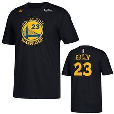 50abca81aed Golden State Warriors adidas NBA Finals Draymond Green  23 Gametime Player  Replica Tee - Black. Durant Nba