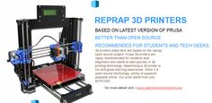 We are one stop destination for cheap 3D printer, 3D printer kit, Reprap printers and DIY 3D printer. Read latest reviews and buy DIY 3D printer and kits.