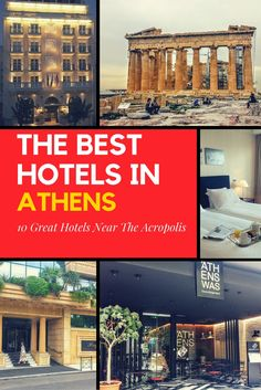 These are the best hotels near the Acropolis in Athens. If you are planning to visit Athens in Greece, this list of the 10 best hotels in Athens will help you plan where to stay.
