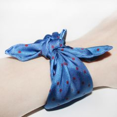 #SWAG: SAPPHIRE Silk Bracelet Made by MDGRAPHY - I'd love this dainty treat to tie round my wrist! #30