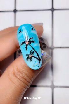 10 Pretty & Amazing Nail Art Trends In 2019 Nails Design Tutorials Videos Nail Art Designs Videos, Nail Design Video, Nail Art Videos, Nails Design, Winter Nails, Summer Nails, Cute Nails, Pretty Nails, Diy Nails Soak
