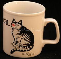 Kliban LOVE A CAT Coffee Mug KilnCraft