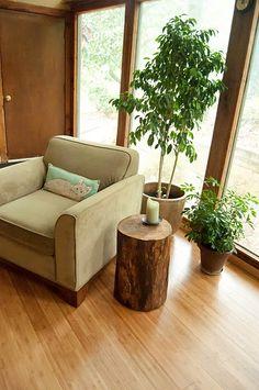 my house, DIY log table