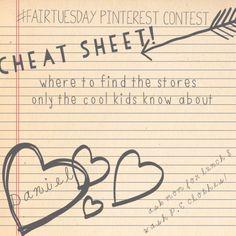 #FairTuesday Pinterest Contest cheat sheet from @Let's Be Fair... shhhhh!
