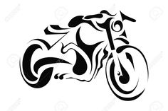 Illustration of Black silhouette of a motorcycle on a white background vector art, clipart and stock vectors. Motorcycle Tattoos, Motorcycle Art, Motorcycle Clipart, Motorbike Drawing, Harley Davidson, Wood Burning Patterns, Black Silhouette, Scroll Saw Patterns, Pyrography