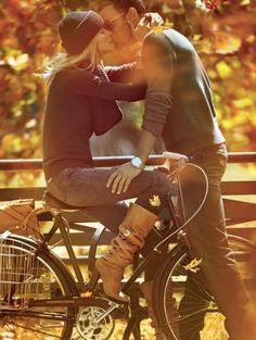 25+ Superlative Engagement Picture Ideas - love the bike shot since brett tried to seduce me on his bike back in the day :)