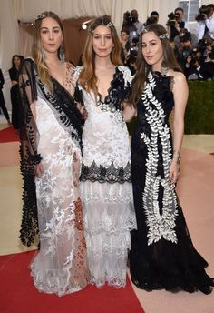 """HAIM attends the """"Manus x Machina: Fashion In An Age Of Technology"""" Costume Institute Gala at Metropolitan Museum of Art on May 2, 2016 in New York City."""