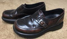 44.54$  Buy now - http://viess.justgood.pw/vig/item.php?t=9kob4f42679 - Dansko Womens Size US 9M Shoes Brown Leather Clog Oxford Loafer Buckle Polished