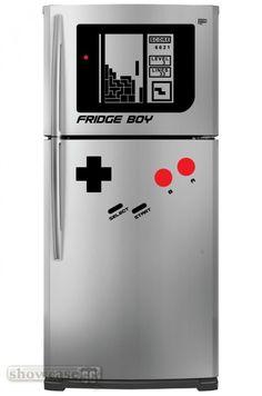 GameBoy fridge decals.