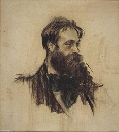 The Athenaeum - Portrait of Joaquim Mir (Ramon Casas y Carbó - )
