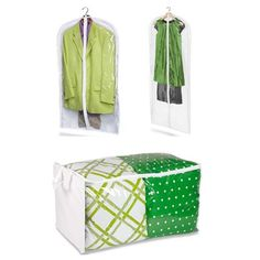 PEVA storage bags for suits and dresses