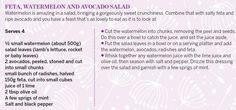 Feta, Watermelon & Avocado Salad