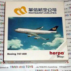 """herpa wings Maßstab 1:500  Boeing 747 400 Fluggesellschaft """"Mandarin Airlines"""""""
