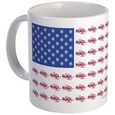 American Flag Made of Snowmobiles Mug on CafePress.com