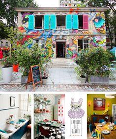 The Hottest New Cafés in Paris via Le Pavillon des Canaux Paris Travel, France Travel, Coffee Shops, Best Paris Hotels, Belleville Paris, Paris Bars, Resto Paris, Epic Party, News Cafe