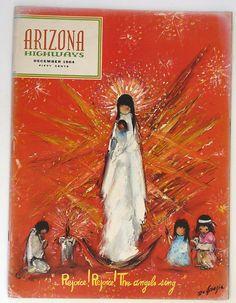 Arizona Highways magazine December 1964 De Grazie illustrations Christmas artist