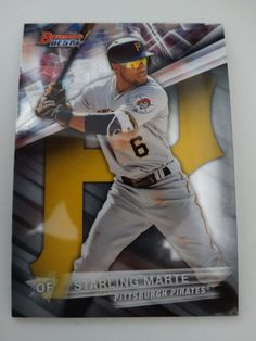 2016 Bowman's Best #53 Starling Marte Pittsburgh Pirates Baseball Card #PittsburghPirates