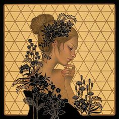 Preview: Audrey Kawasaki's New Wood Panel Paintings