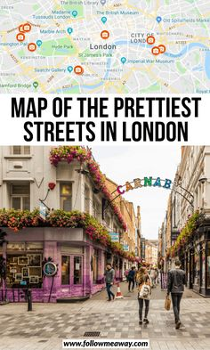 10 Prettiest Streets In London + Map To Find Them – Best Europe Destinations London Travel Guide, London Guide, Paris Travel, Notting Hill London, Hyde Park London, London Map, London Places, Street Map Of London, Europe Destinations