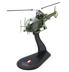 Pre-Built Model Aircraft - Aerospatiale Alouette II diecast 172 helicopter model Amercom HY37 >>> For more information, visit image link.