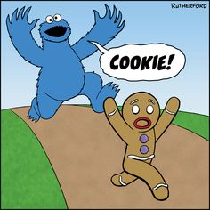 Funny Cookie Monster   Cookie Monster Cartoon Pictures Pictures