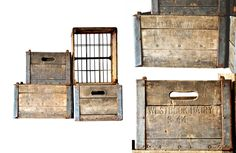 $34.50 {FOUND: One Day Only} Vintage Wooden Milk Crate ~Enjoy one decor deal a day from WUSLU ~www.wuslu.com